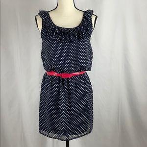 - Sweet Storm Navy & White Polka Dot Dress, Large